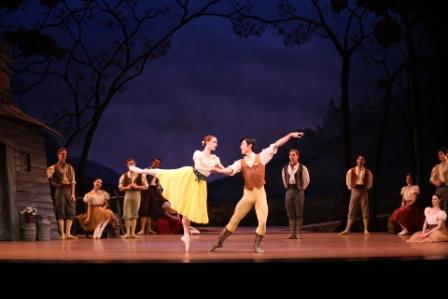 Giselle, Johan Kobborg & Ethan Stiefel, Costume Designs By Natalia Stewart, Royal New Zealand Ballet, 2012 Featuring Gillian Murphy And Qi Huan, Photo Ev