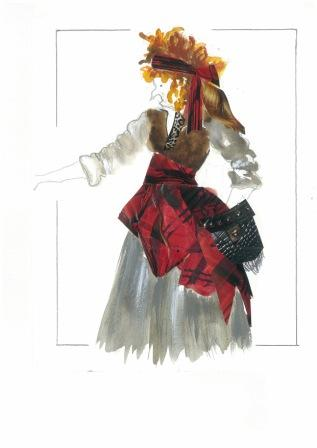 La Sylphide Staged By Johan Kobborg, Costume Design For Madge By Natalia Stewart, Bucharest Opera House, 2013