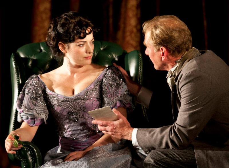 Laura Michelle And James Wilby In The Second Mrs Tanqueray By Arthur W Pinero, Directed By Stephen Unwin, Costumes By Mark Bouman, Rose Theatre Kingston, 201