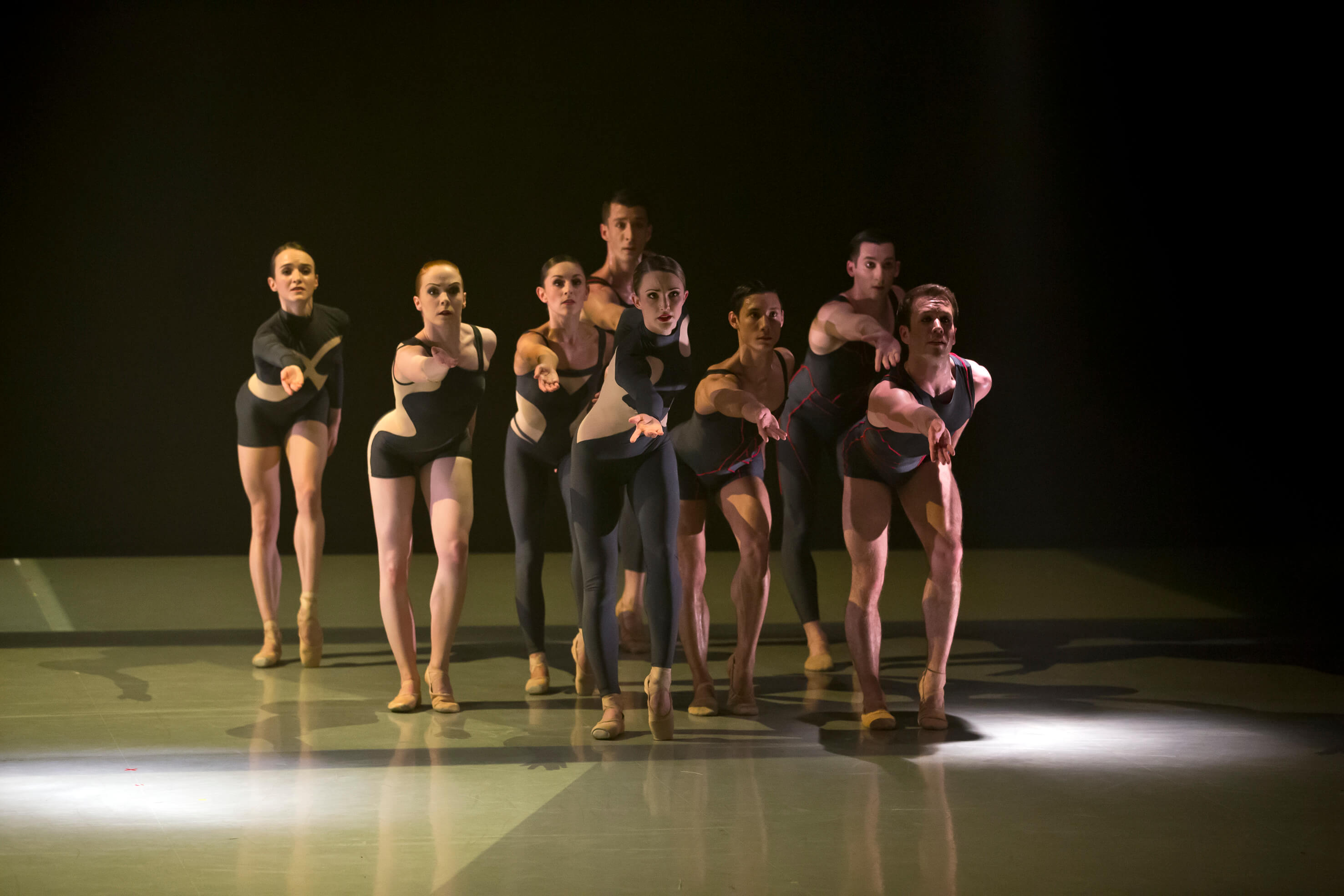 Northern Ballet Dancers In Luminous Juncture. Photo E Kauldhar