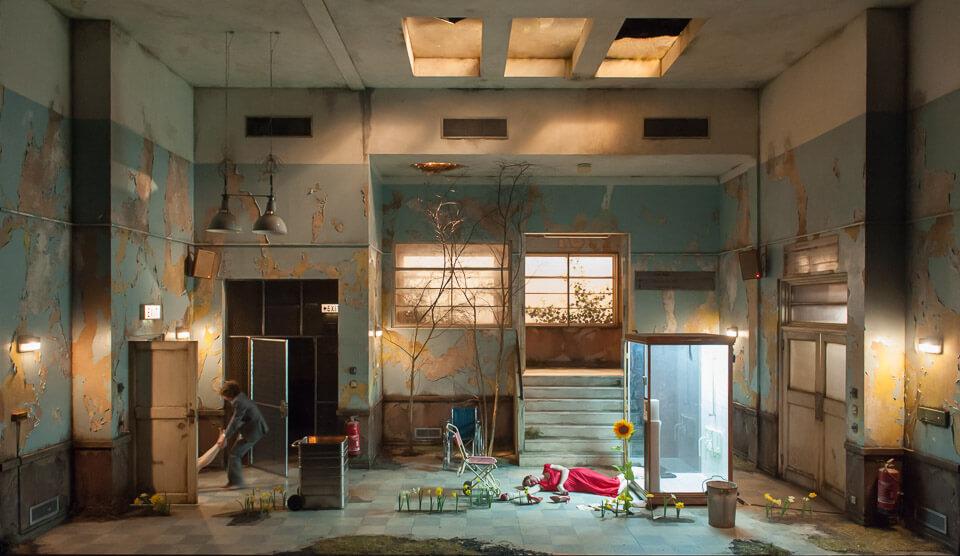 Cleansed, National Theatre, Dir. Katie Mitchell, Designed Alex Eales, Photo (C) Stephen Cummiskey
