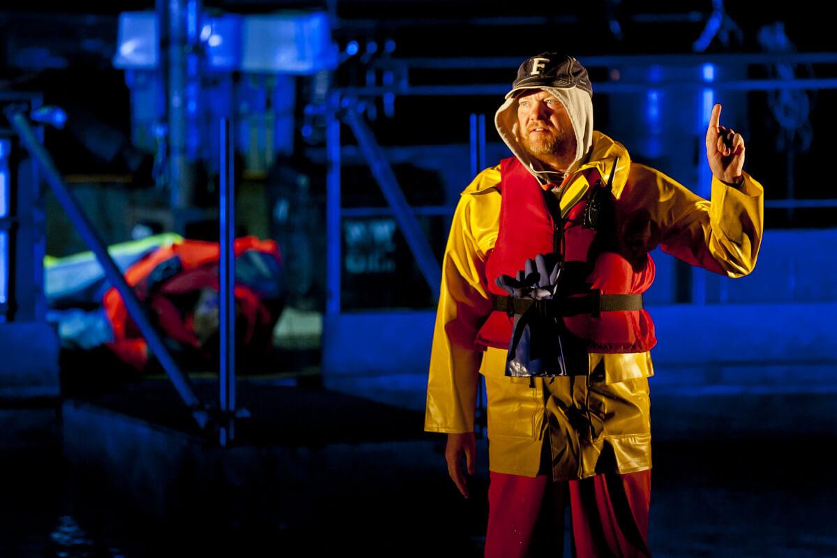 The White WhaleSite Specific; New Dock, Royal Armouries, LeedsDir.Alan LaneDes.David FarleyLighting Ric MountjoyPhotoZagni Photography