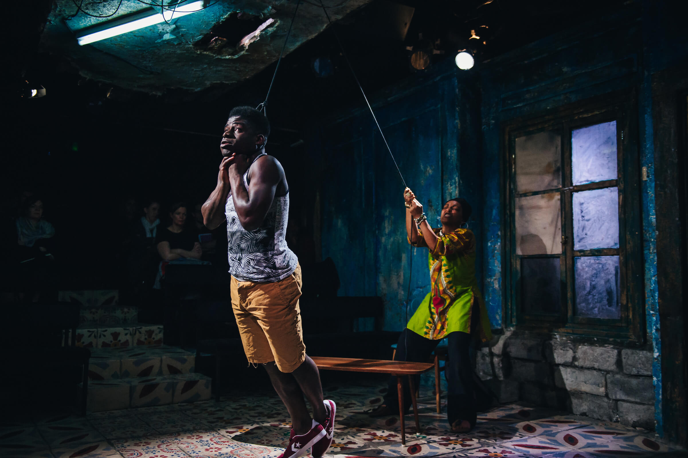 Assata Taught Me, The Gate Theatre, Director: Lynette Linton, Designer: Frankie Bradshaw, Lighting: Jack Weir, 2017